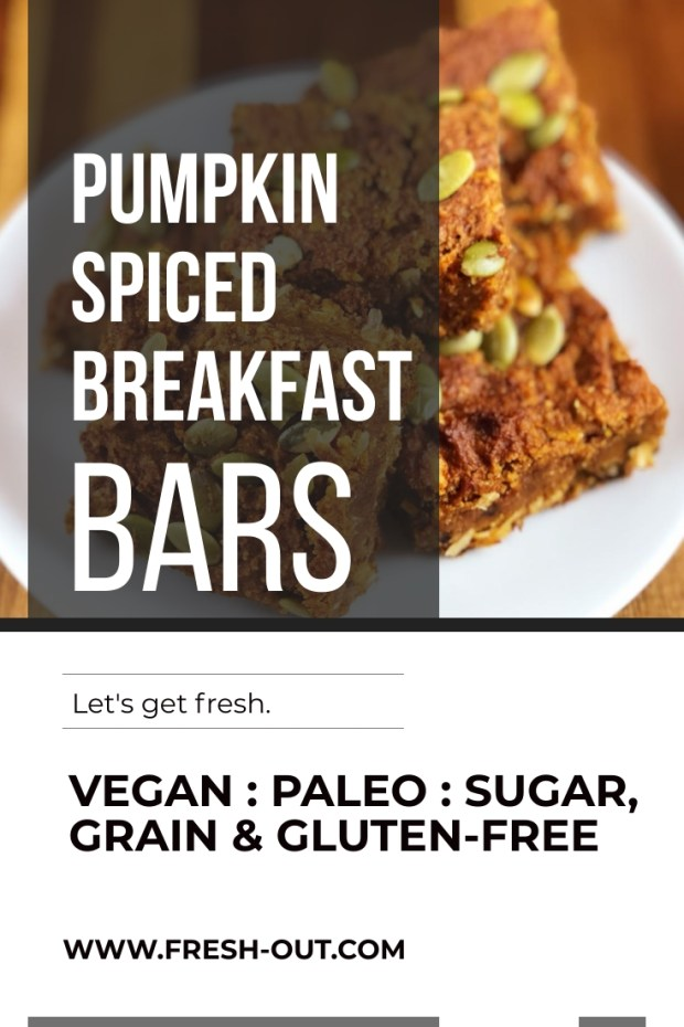 PUMPKIN SPICED BREAKFAST BARS