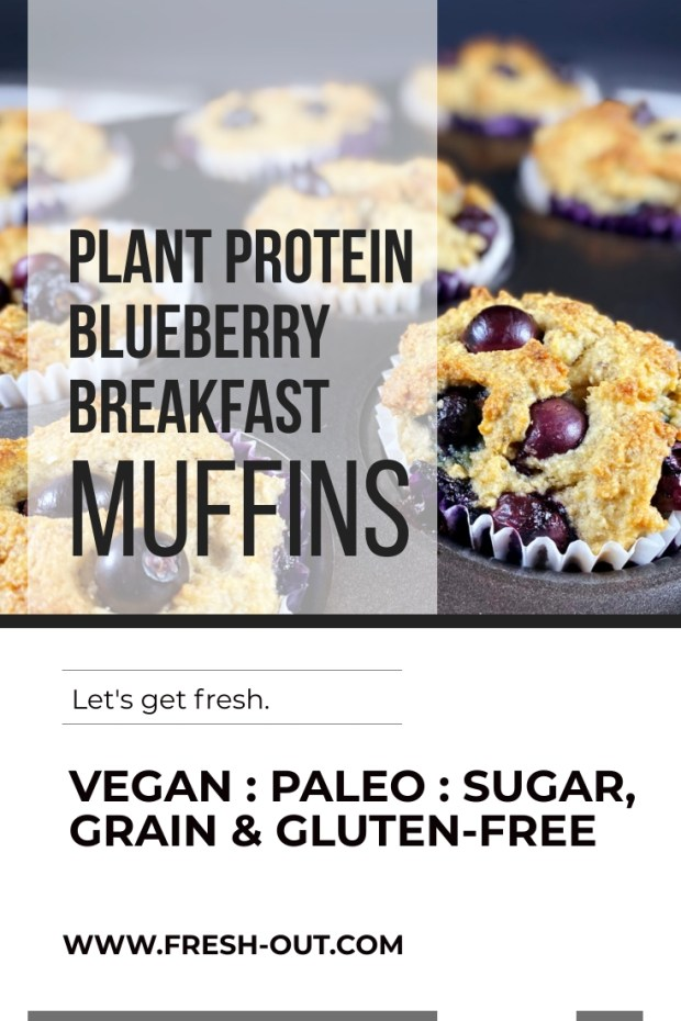 PLANT PROTEIN BLUEBERRY BREAKFAST MUFFINS