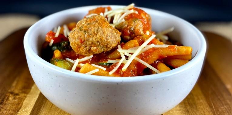 Instant Pot Grain-Free Pasta and Meatballs