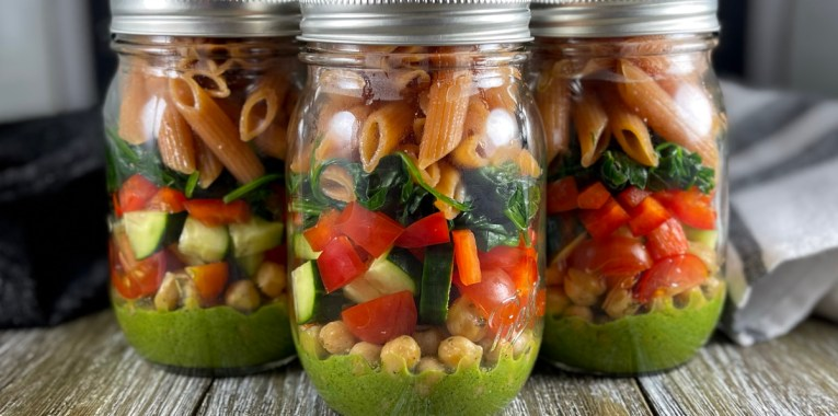 Mason Jar Super Salad
