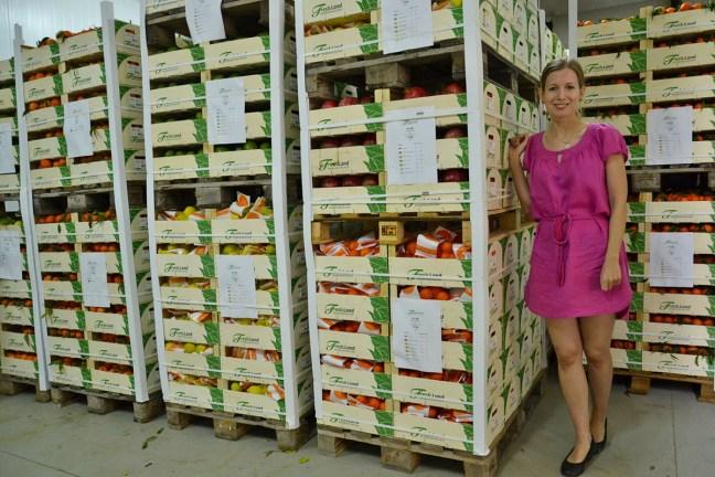 Mathilde checking a shipment