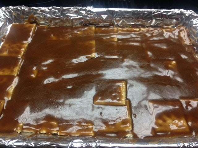 Saltine toffee, also known as Christmas Crack!