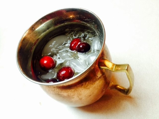Christmas Cocktails- Cranberry Moscow Mule