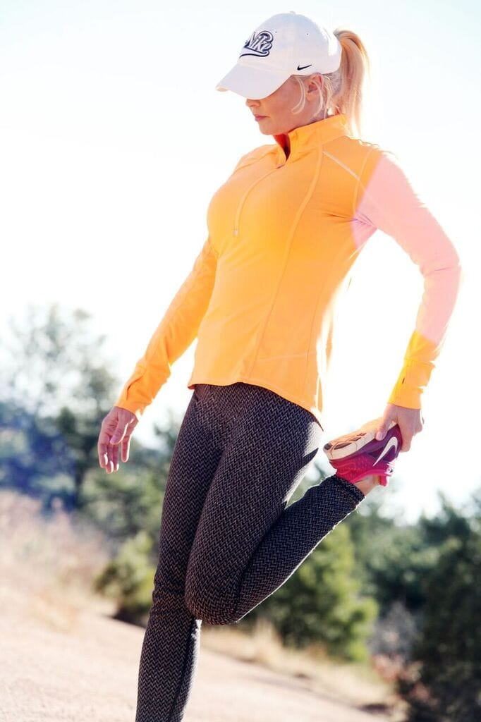 Inspiration for Women Over 40: Walking at home for exercise.