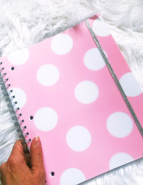 happy things! This pink notebook is one of the first things reach for in the morning!
