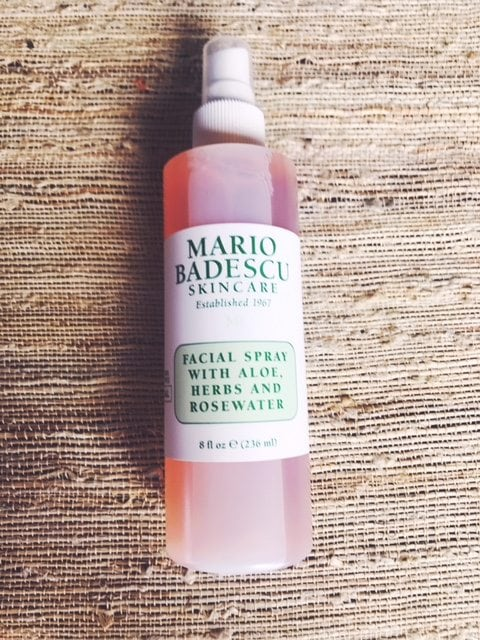 DIY vanity table; Mario Badescu facial spray