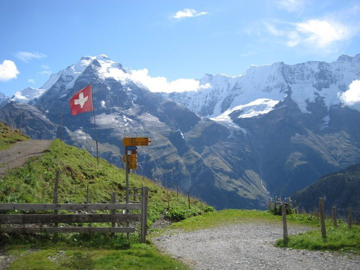 How to backpack across the Swiss Alps.