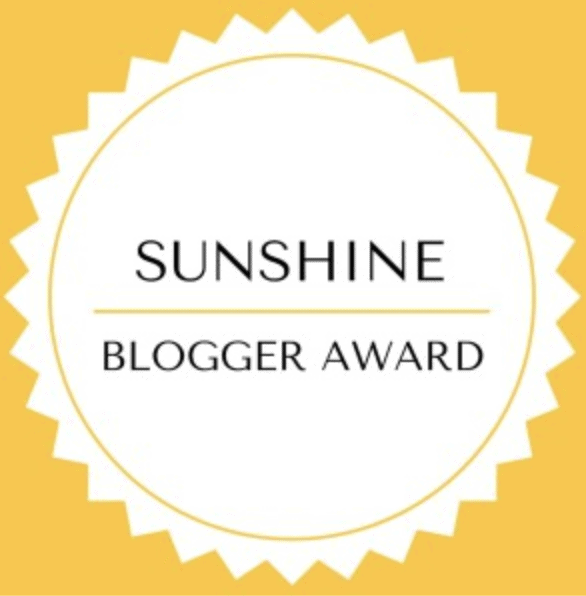 Sunshine Blogger Award for Fresh Air and False Lashes.