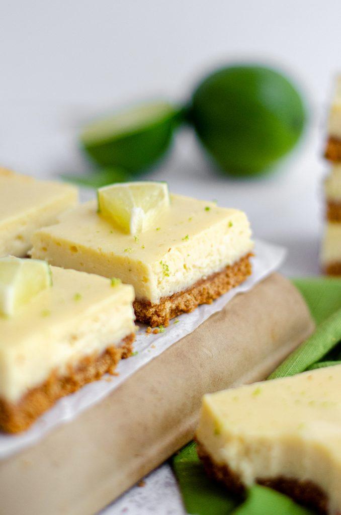 key lime pie bars on a platter