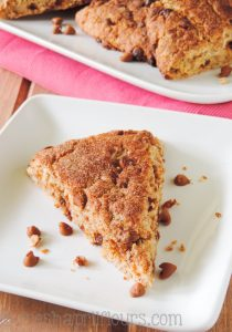 Cinnamon Crunch Scones: buttery, tender, and full of sweet cinnamon flavor.