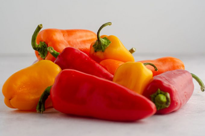 pile of mini bell peppers