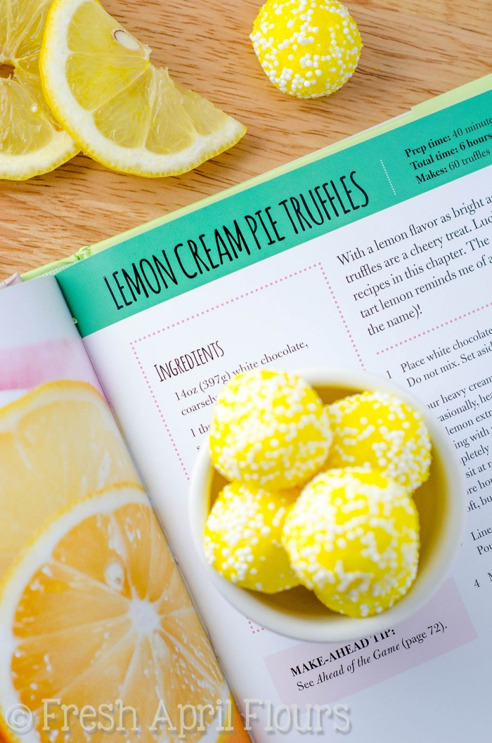 Lemon Cream Pie Truffles: Smooth and creamy truffles full of lemon flavor and rolled in bright and sunny sprinkles. Easy to follow instructions will make you feel like a candy-making expert!