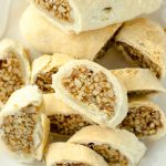 Honey Walnut Cookie Sticks (Sfratti): Traditional Italian cookies made from a spiced honey walnut filling and wrapped in homemade pie crust.