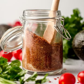 a jar of gluten free taco seasoning