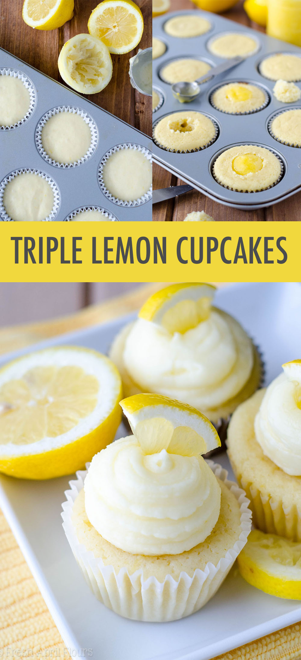 Tender lemon cupcakes filled with tangy homemade lemon curd and topped with a sweet, creamy lemon buttercream. A lemon lover's dream!