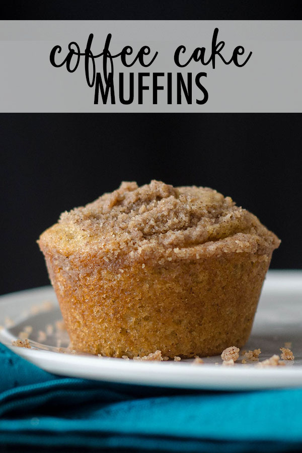 Buttery, brown sugar muffins topped with a cinnamon streusel are everything you love about coffee cake in handheld form!