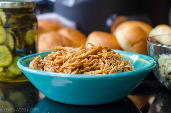 """Nashville Style Shredded Hot Chicken: Bring the flavor of the south into your kitchen with an easy, slow cooker shredded chicken recipe inspired by Nashville's iconic """"hot chicken."""""""