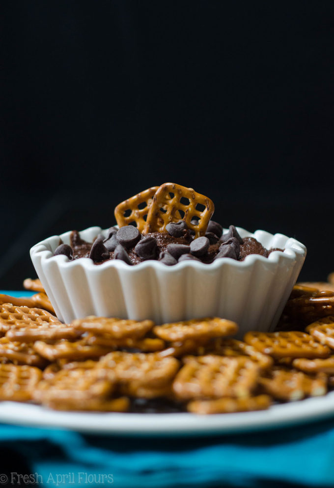 Brownie Batter Dip: A supremely chocolatey dip that is everything you love about brownie batter without the eggs.