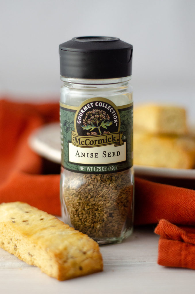 Traditional Italian Anise Biscotti: Basic biscotti cookies flavored with anise extract and anise seed.