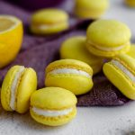 Lemon Macarons: These sweet and tart lemon macarons are filled with a tangy lemon buttercream. The lemon French macarons feature actual lemon zest as well as lemon extract to bring all the flavor without sacrificing that light and airy macaron texture.