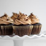 Simple Chocolate Cupcakes with Chocolate Swiss Meringue Buttercream