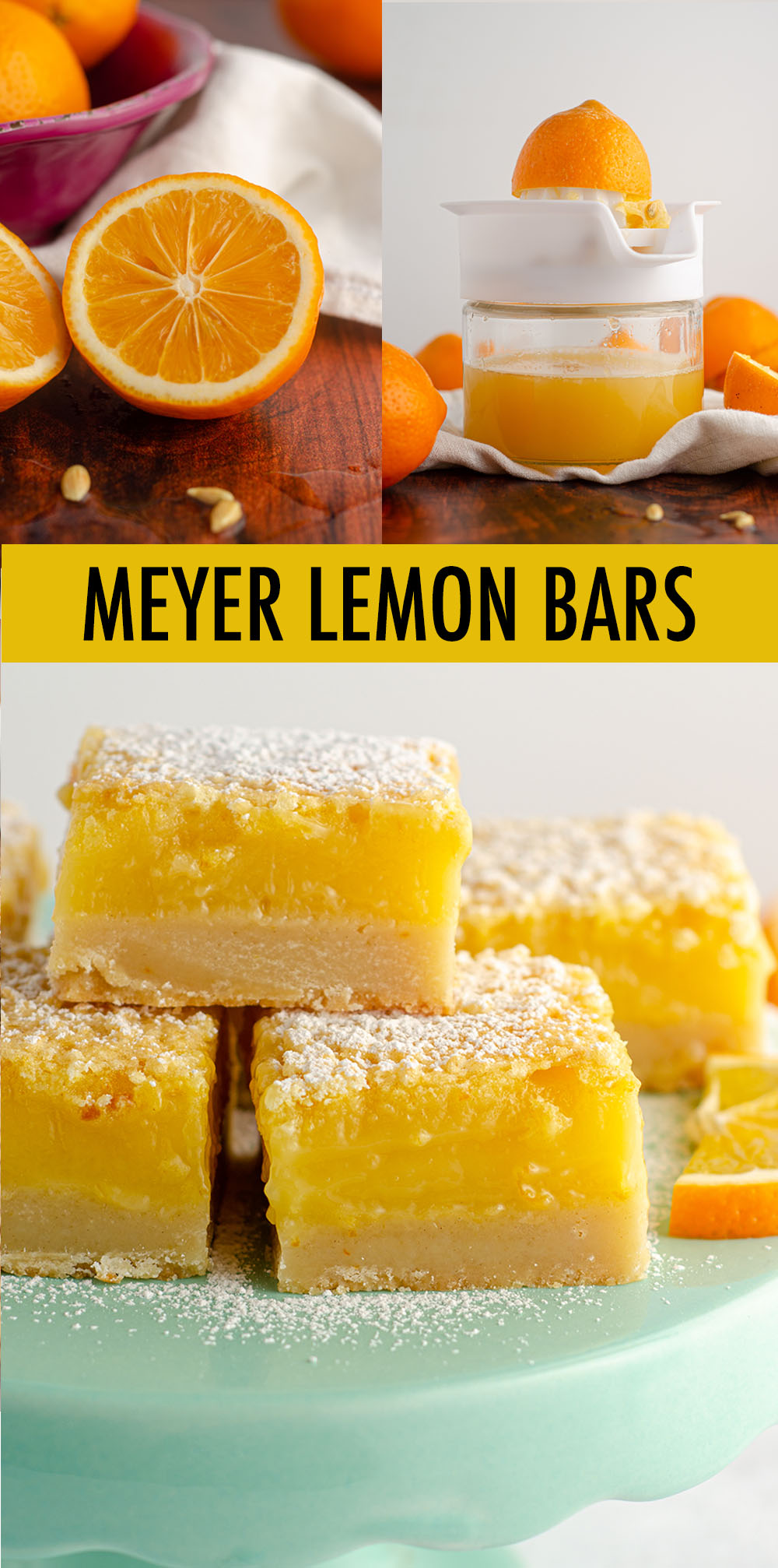 Not your average lemon square-- these ultra thick and creamy Meyer lemon bars sit atop a buttery shortbread crust and will be the last lemon bar recipe you'll ever need!