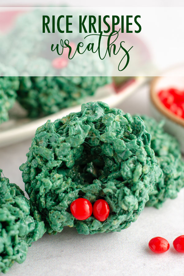 Everybody's favorite Rice Krispies treats shaped into festive wreaths are perfect for filling spots on cookie trays and make a merry no-bake treat.