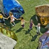 Jim Hodges' shining boulders