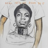 Real NEGUS Don't Die: Young, Gifted, & Black. Graphite and acrylic on paper. 39x26 in. 2012. Fahamu Pecou