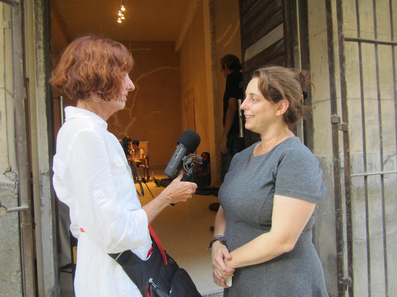 Cathy Byrd with Tania Bruguera