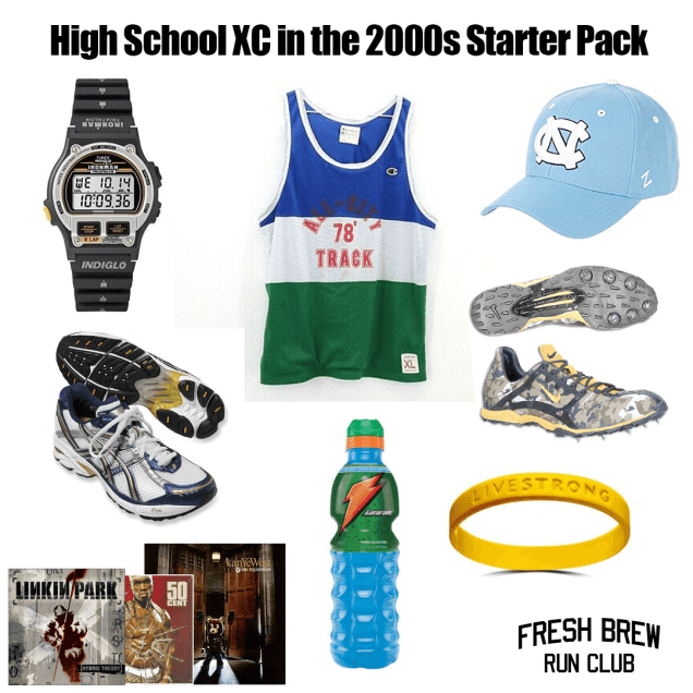 Starter pack for high school cross country in the 2000s