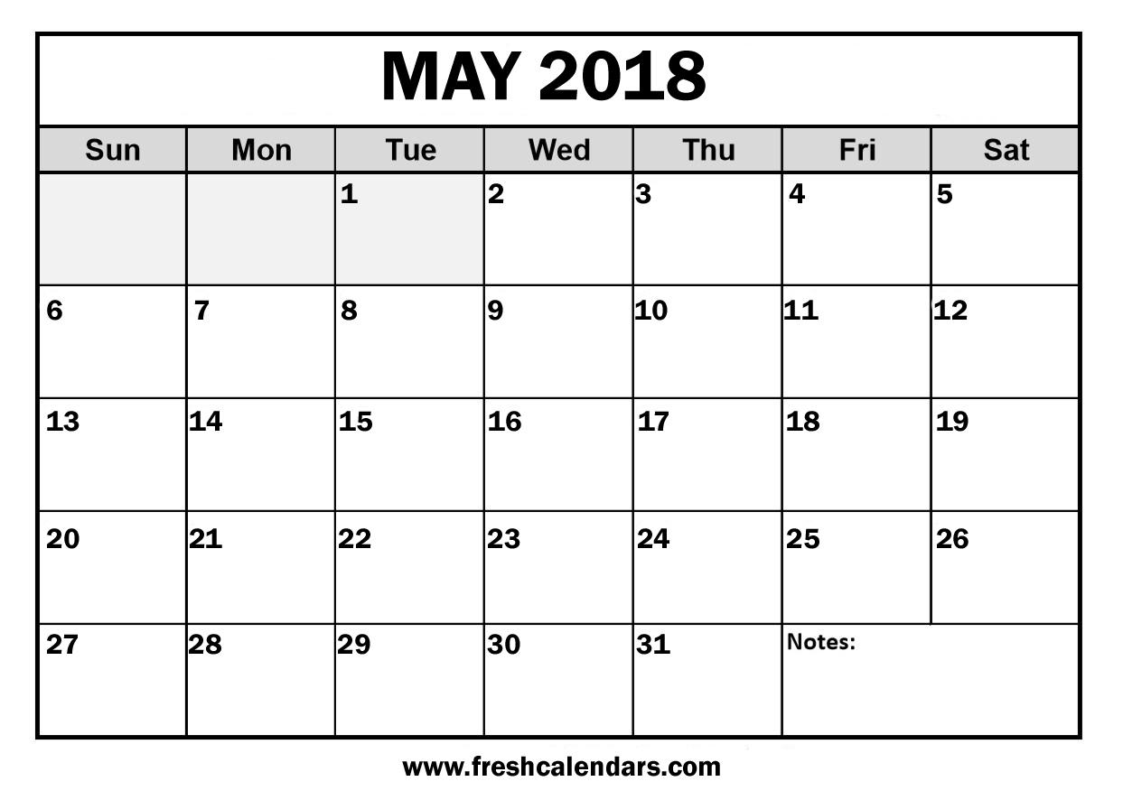 Calendar Of May