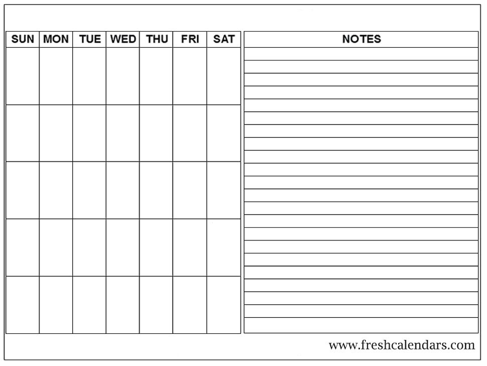 Click anywhere in the blank calendar to make it the active calendar. Free Printable Blank Calendar 2020