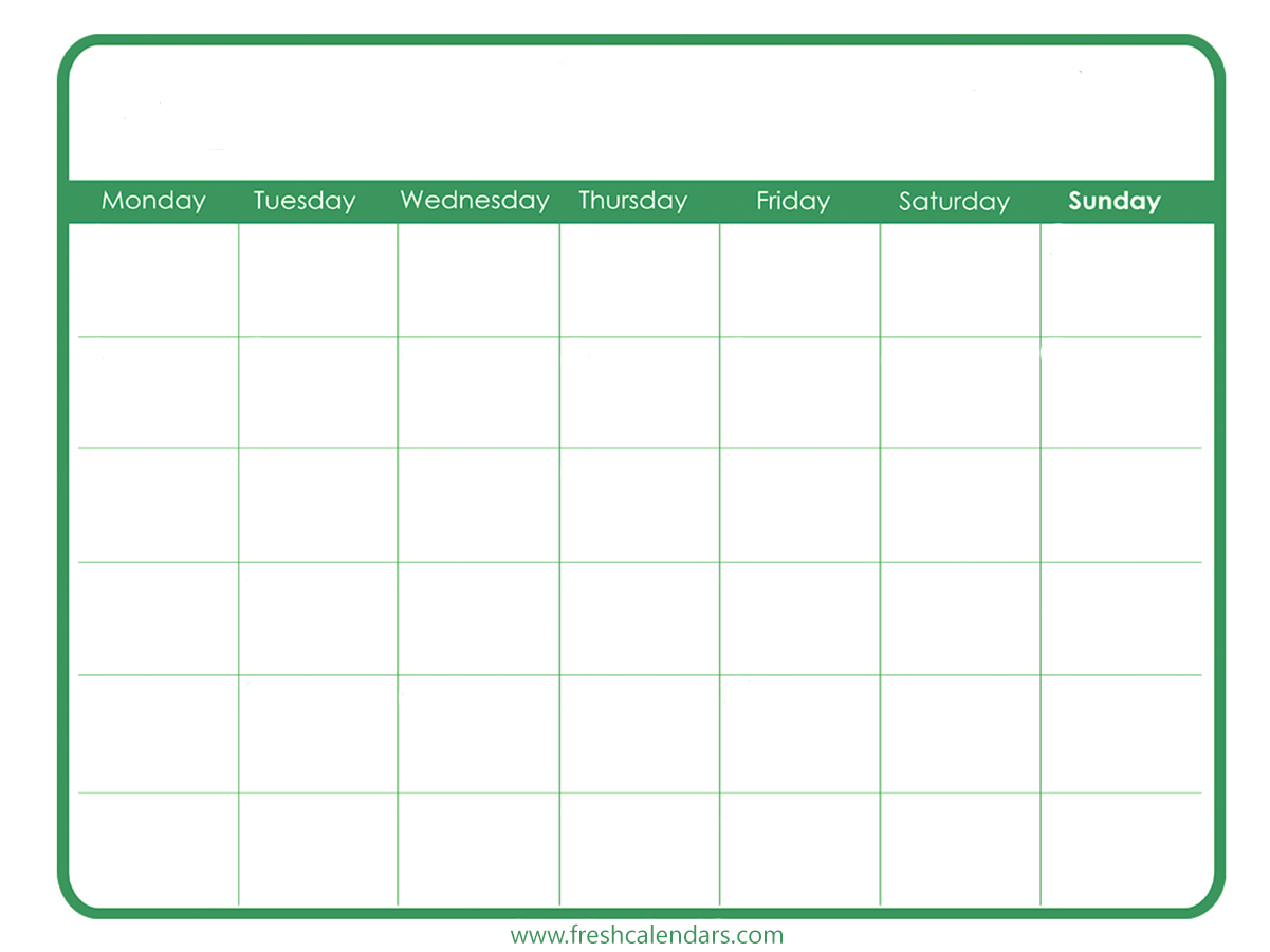 Powerpoint and excel calendars are designed for personal, school, and business settings and are ready to be filled with your special dates and upcoming events: Free Printable Blank Calendar 2020