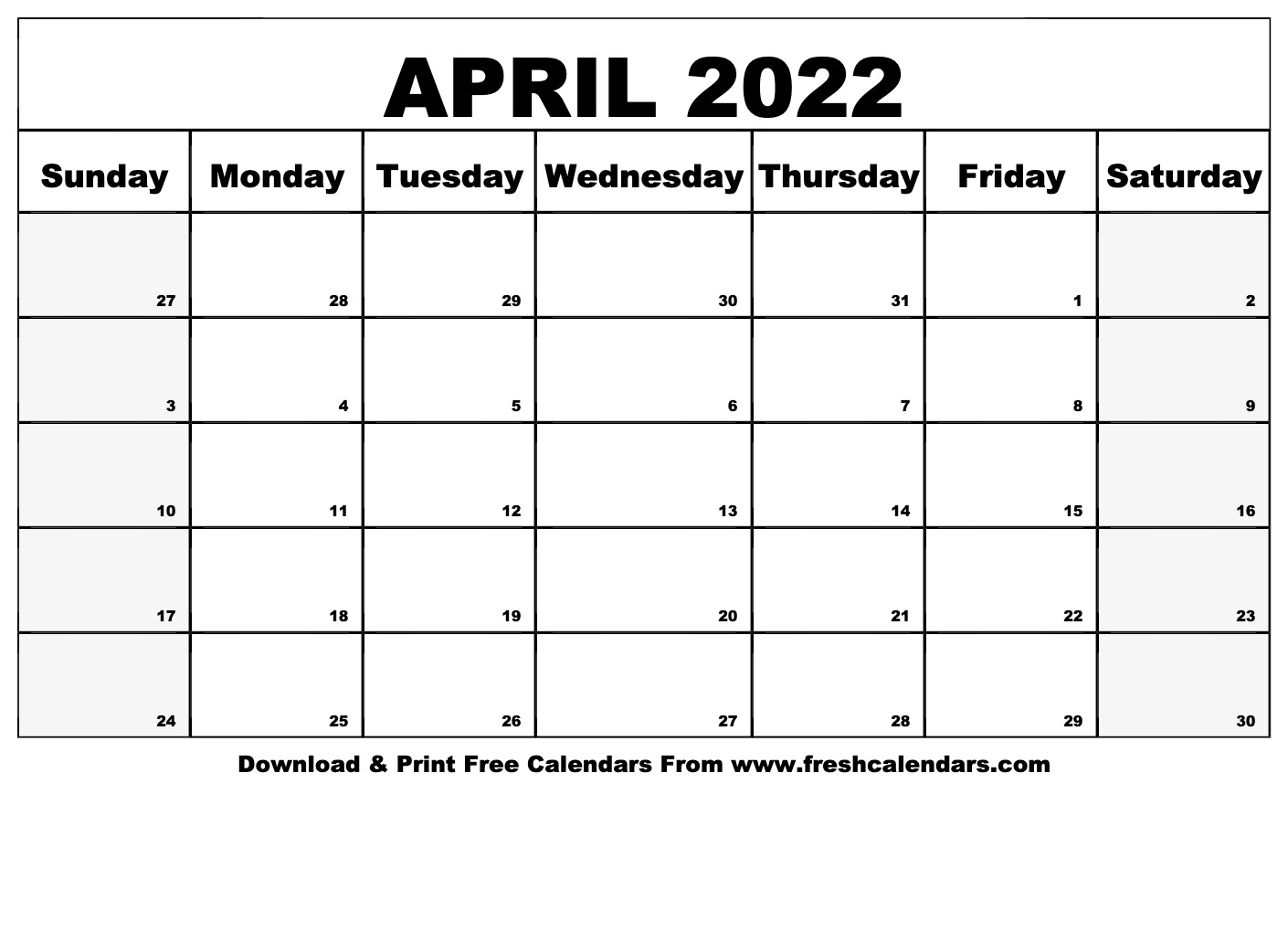Prior month expectations as reported by reuters last week&aposs calendar this article was written by a staff member of thestreet.com. Blank Printable April 2022 Calendars