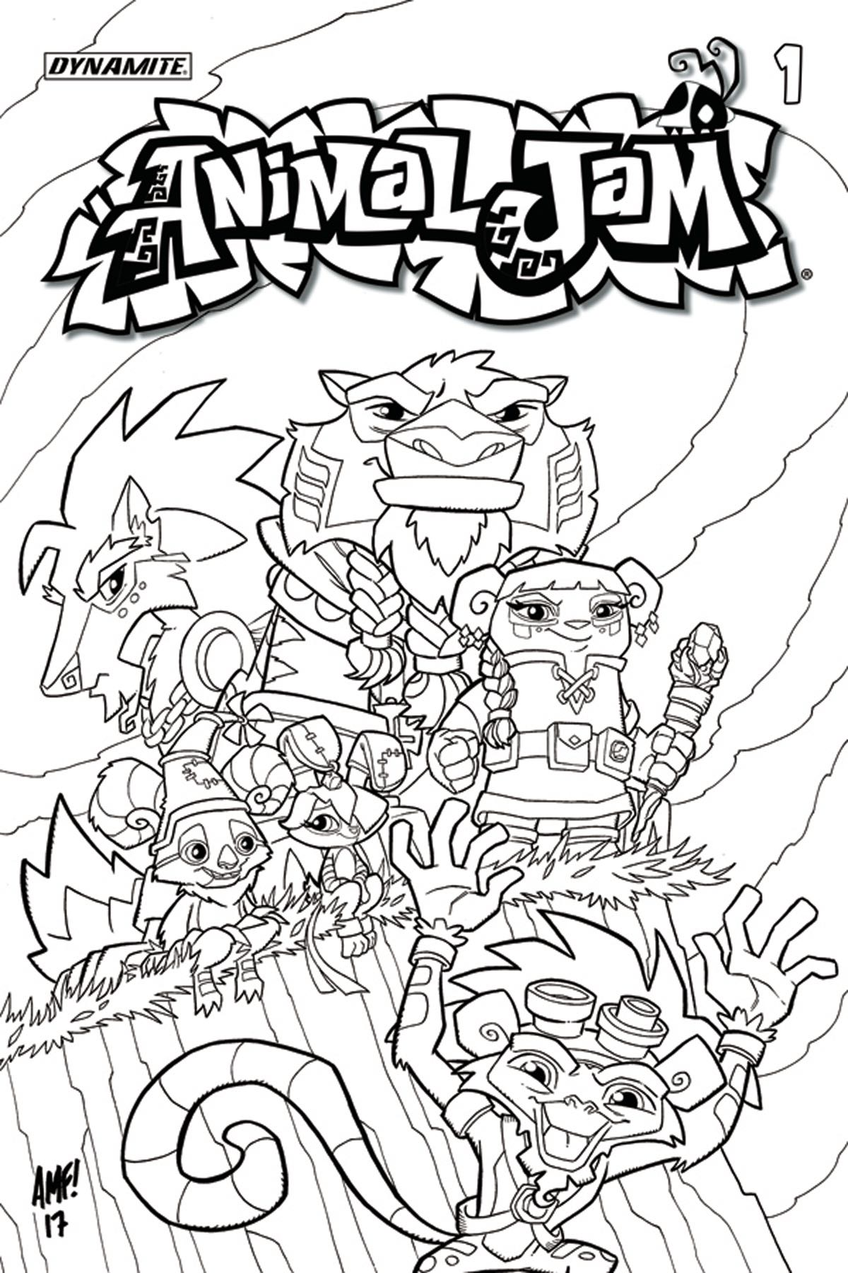 Animal Jam 1 Coloring Book Cover