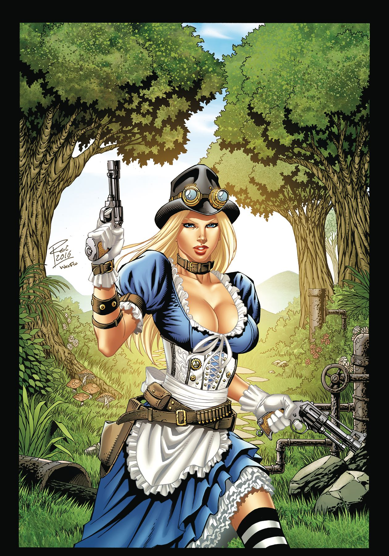 Grimm Fairy Tales Steampunk Alice In Wonderland Coloring