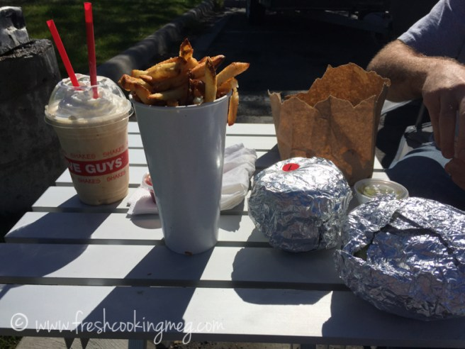 5 Guys Burgers stop for lunch in Missoula!