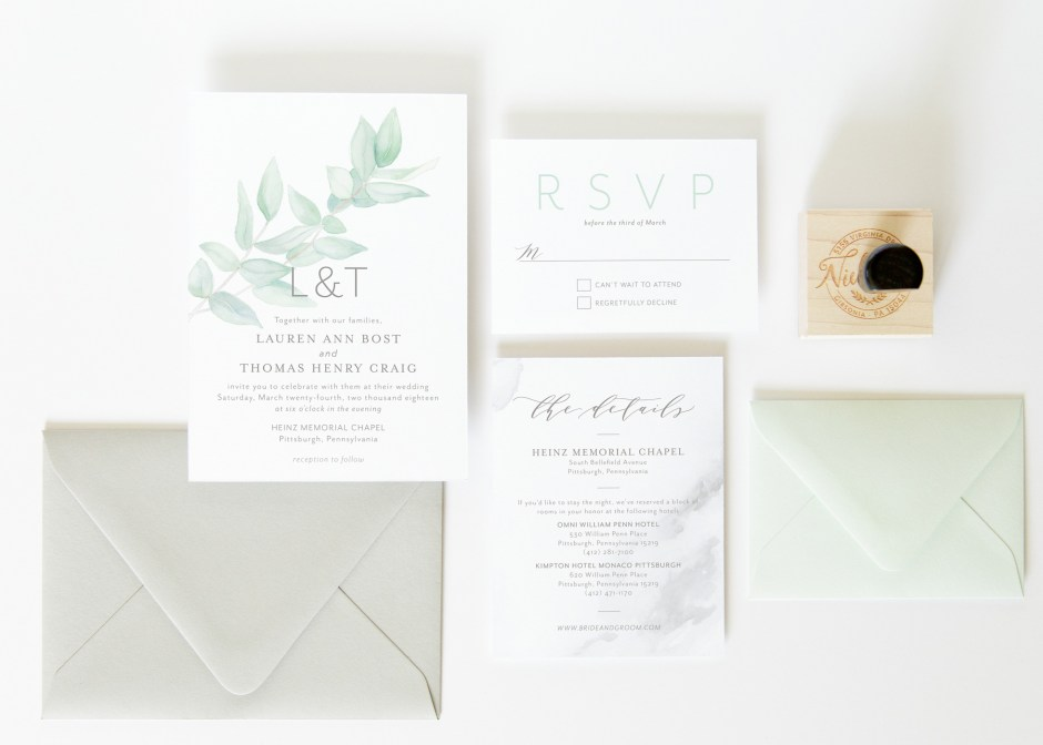 watercolor botanical invitation