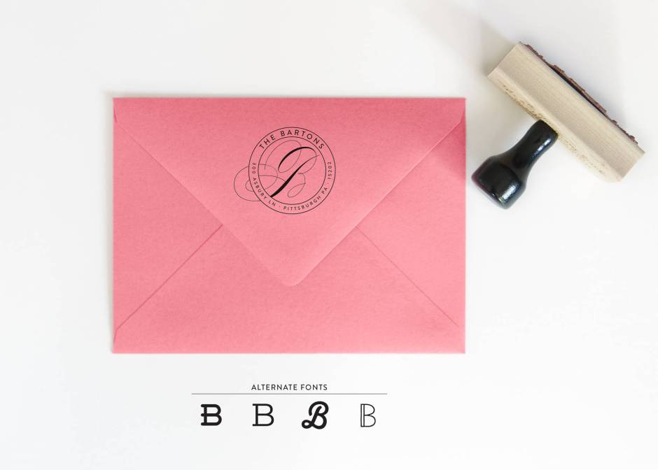 Circle Return Address Stamp