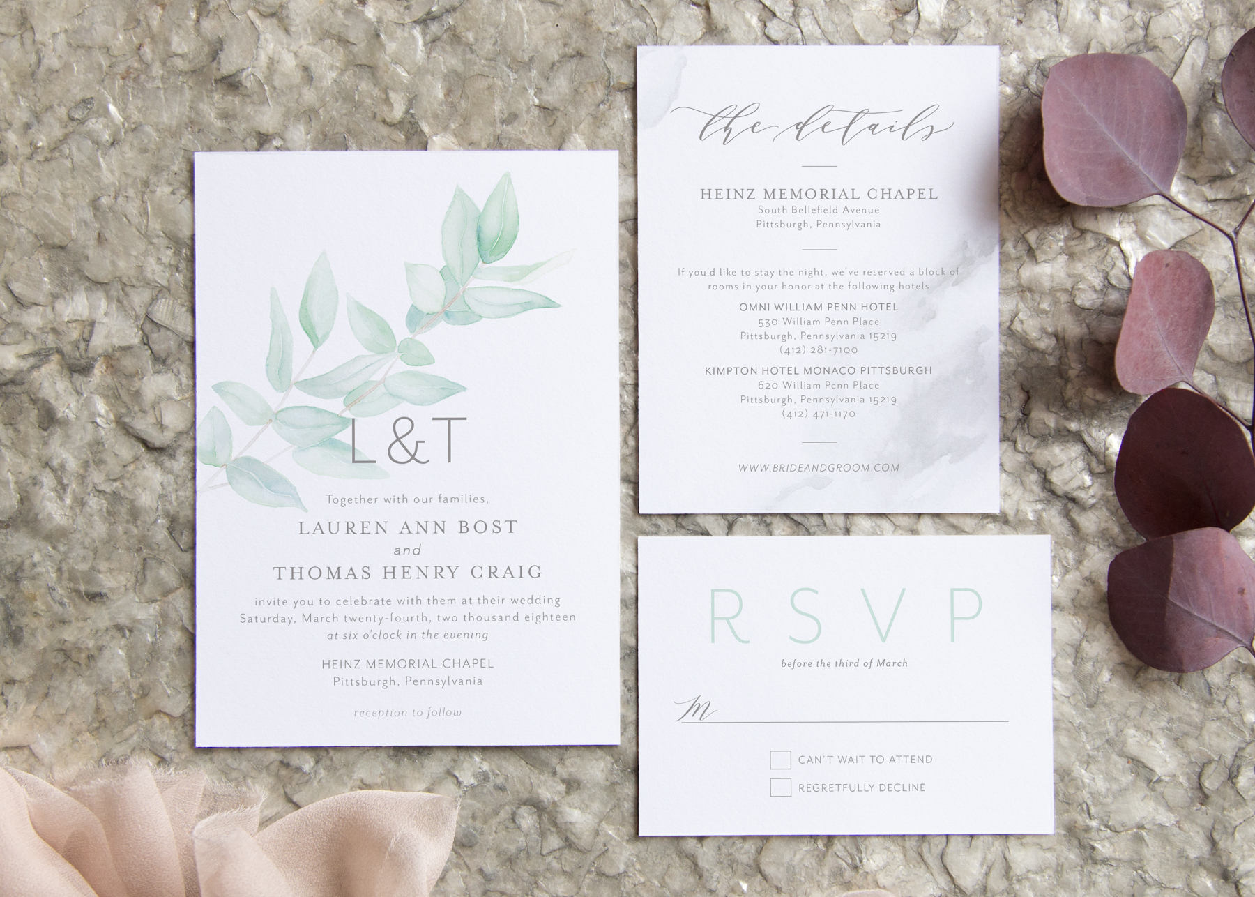 Eucalyptus Wedding Invitation