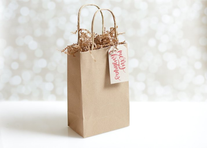 Hand Lettered Merry Christmas Gift Tags