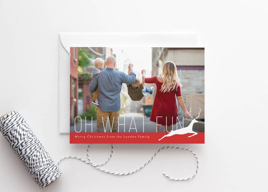 Oh What Fun Christmas Card