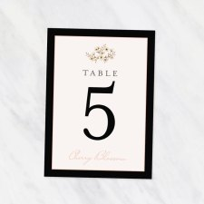 Printed Table Numbers