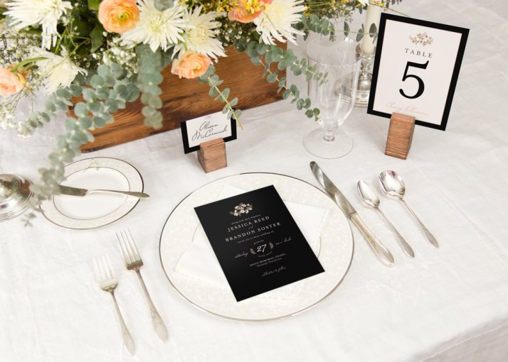 Printed Wedding Menus