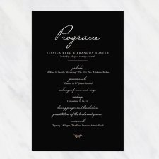 Printed Wedding Programs