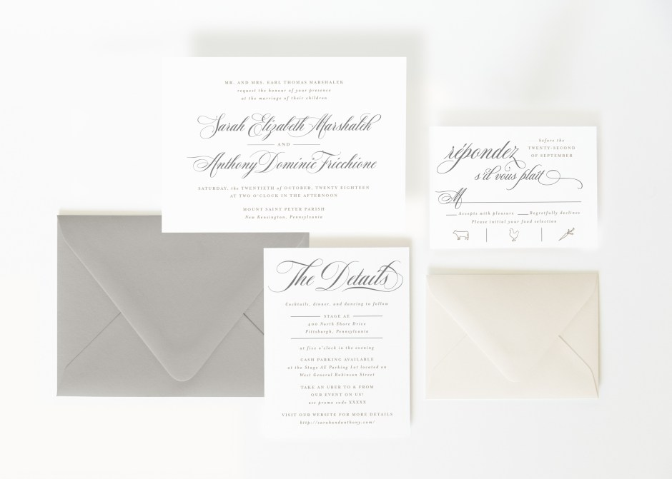 Landscape Formal Elegant Wedding Invitation