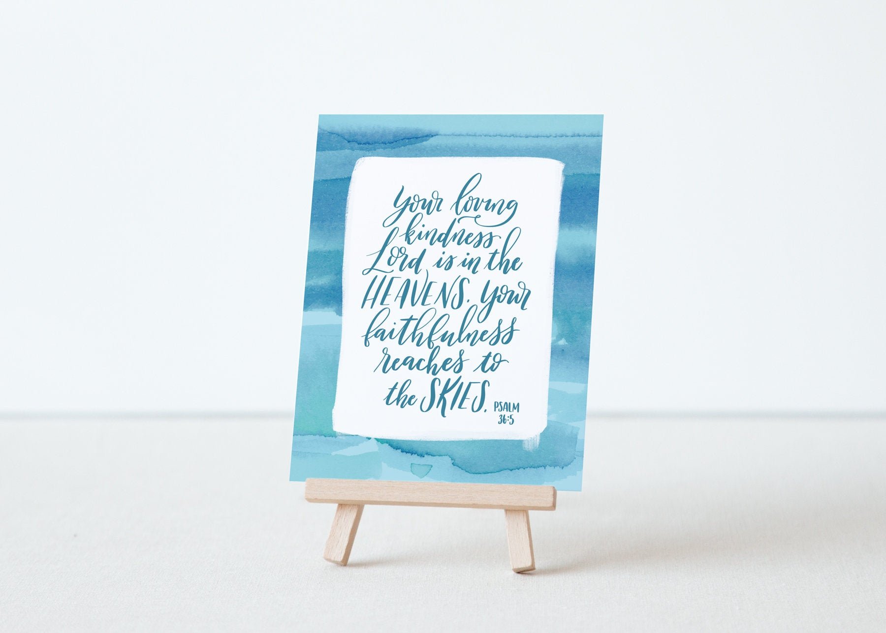 Bible Verse Art Card Set with Wood Easel