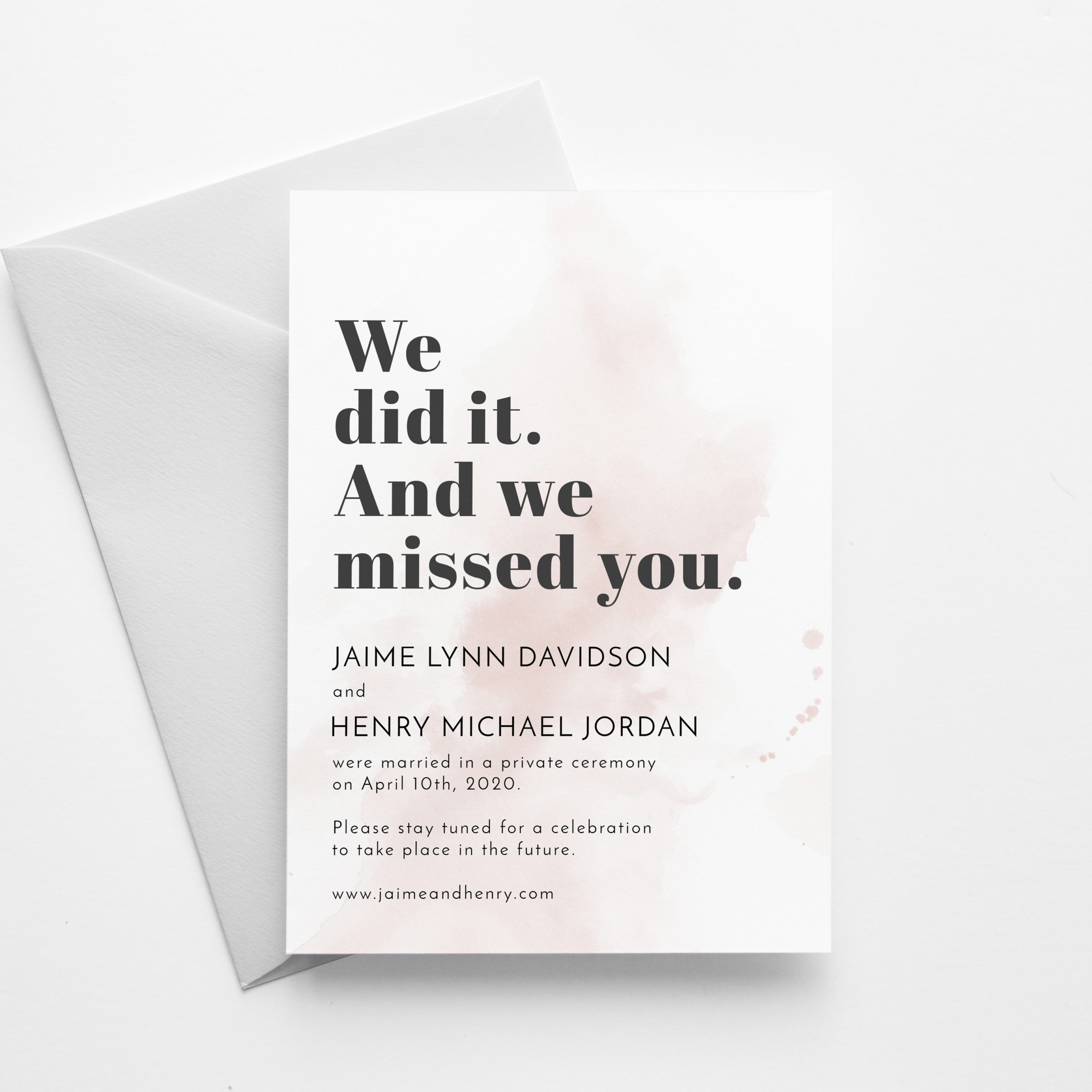 Wedding Cancellation Announcement