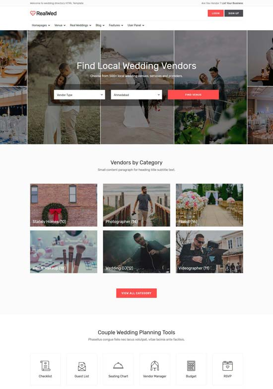 Announce the event and invite your guests. 90 Best Wedding Website Templates 2021 Freshdesignweb